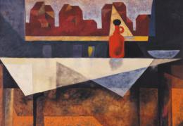 'Still life with red bottle 1948 - larger image