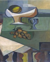 'Still life with goblet and grape 1945