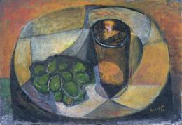 Zátiší se sklenicí a ovocem 1947